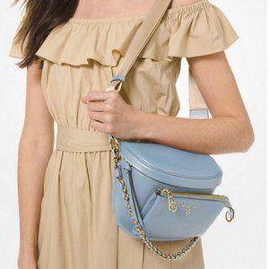 NWT Michael Kors Slater Leather Shoulder Bag Blue